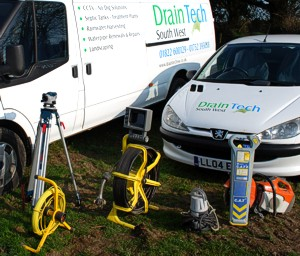 Draintech South West - a fast and efficient service for drains, sewage systems, septic tanks and pipes - using sophisticsted modern equipment